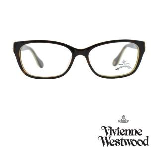 【Vivienne Westwood】光學鏡框優雅土星造型英倫風-琥珀咖/乳黃色-AN258 03(琥珀咖/乳黃色-AN258 03)強力推薦  Vivienne Westwood