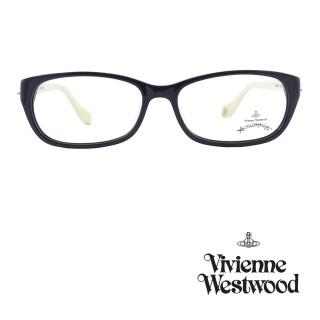 【Vivienne Westwood】光學鏡框前衛雙色造型英倫風-暗紫/象牙白-AN261 04(暗紫/象牙白-AN261 04)  Vivienne Westwood