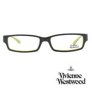 【Vivienne Westwood】光學鏡框經典個性英倫風-綠黑-VW158 03(綠黑-VW158 03)強力推薦  Vivienne Westwood