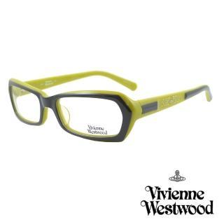 【Vivienne Westwood】光學鏡框線條鑽飾英倫風-綠黑-VW161 04(綠黑-VW161 04)真心推薦  Vivienne Westwood
