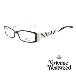 【Vivienne Westwood】光學鏡框斑紋英倫風-黑白-VW163 03(黑白-VW163 03)  Vivienne Westwood