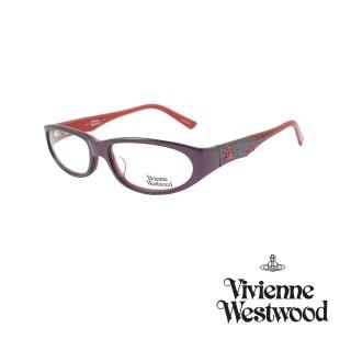 【Vivienne Westwood】光學鏡框龐克鑽飾英倫風-紅紫-VW164 04(紅紫-VW164 04)  Vivienne Westwood