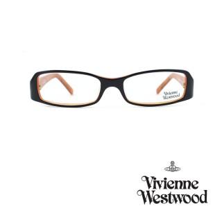 【Vivienne Westwood】光學鏡框經典英倫風-黑/琥珀橘-VW165 03(黑/琥珀橘-VW165 03)好評推薦  Vivienne Westwood