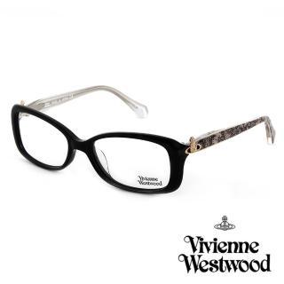 【Vivienne Westwood】光學鏡框經典優雅款英倫風-黑/象牙白-VW289 05(黑/象牙白-VW289 05)推薦折扣  Vivienne Westwood