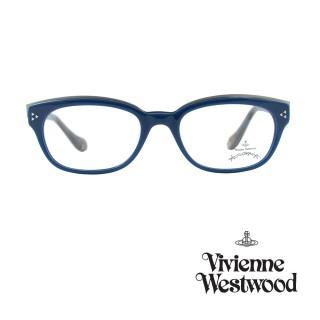 【Vivienne Westwood】光學鏡框個性工業風造型英倫風-土耳其藍-AN273 04(土耳其藍-AN273 04)強力推薦  Vivienne Westwood
