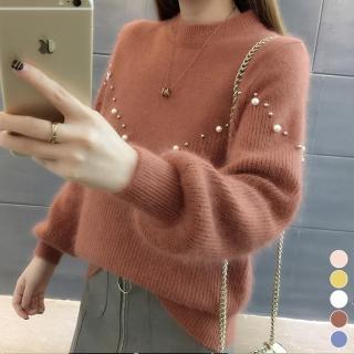 【MsMore】韓版夏綠蒂金鑽暖呼毛海針織上衣103319#j(5色)好評推薦  MsMore