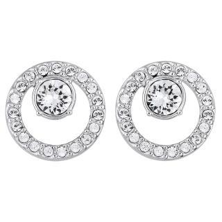 【SWAROVSKI 施華洛世奇】Circle水晶耳環強力推薦  SWAROVSKI 施華洛世奇
