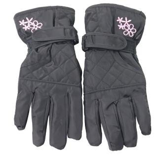 【OMAX】菱格花防潑水防寒機車手套-黑色真心推薦  OMAX