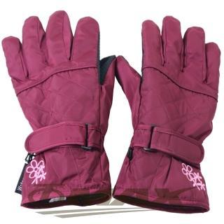 【OMAX】菱格花防潑水防寒機車手套-紅色 推薦  OMAX