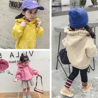 【小衣衫童裝】女童木耳邊帽子緞帶繩內裡刷毛長袖上衣(1071023)強力推薦  小衣衫童裝