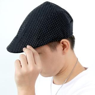 【玖飾時尚】滿版小十字黑色扁帽(鴨舌帽)  玖飾時尚