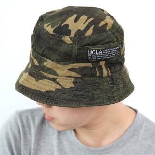 【玖飾時尚】UCLA布標迷彩漁夫帽(漁夫帽)  玖飾時尚