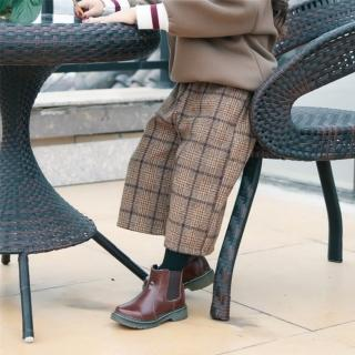 【小衣衫童裝】兒童秋冬毛呢格子直筒括腿九分褲(1071117)  小衣衫童裝