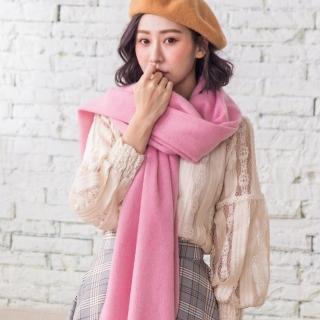 【Wonderland】原色厚織100%純羊毛披肩(6色可選)好評推薦  Wonderland