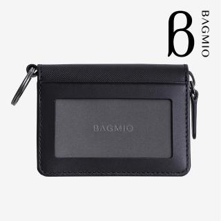 【BAGMIO】vigor 牛皮鑰匙零錢包-黑色  BAGMIO