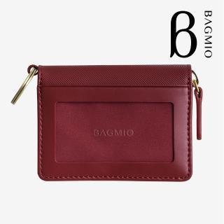 【BAGMIO】vigor 牛皮鑰匙零錢包-酒紅  BAGMIO