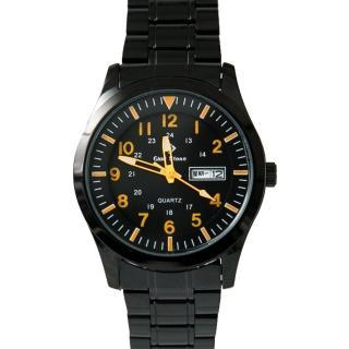 【玖飾時尚】橘色刻度搭戴SEIKO機芯鋼錶(手錶)  玖飾時尚