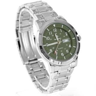 【玖飾時尚】搭戴SEIKO機芯墨綠不鏽鋼錶(手錶) 推薦  玖飾時尚