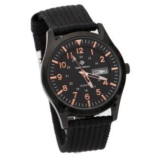 【玖飾時尚】搭戴SEIKO機芯全黑帆布手錶(手錶)  玖飾時尚