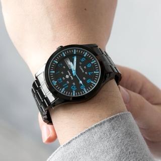【玖飾時尚】搭戴SEIKO機芯藍色刻度手錶(手錶)  玖飾時尚