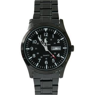 【玖飾時尚】搭戴SEIKO石英機芯全黑手錶(手錶)  玖飾時尚