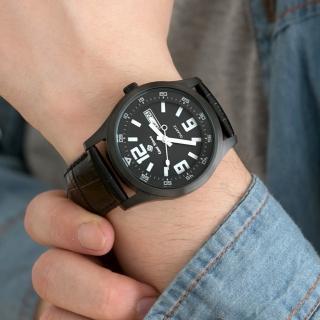 【玖飾時尚】大數字SEIKO機芯真皮腕錶(手錶)強力推薦  玖飾時尚