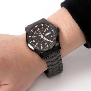 【玖飾時尚】橘色刻度搭戴SEIKO機芯鋼錶(手錶)好評推薦  玖飾時尚