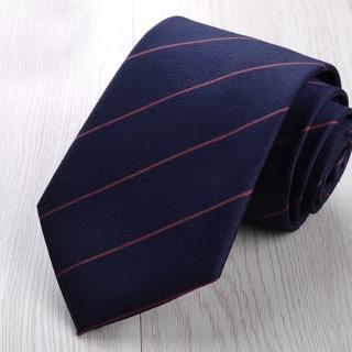 【拉福】勝全8CM寬版領帶手打領帶(藍底)好評推薦  拉福