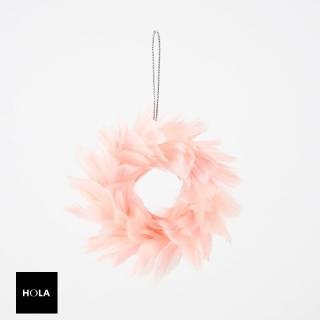 【HOLA】羽毛圈吊飾 粉紅推薦折扣  HOLA