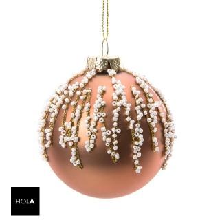【HOLA】金色珠串玻璃球吊飾80mm  HOLA