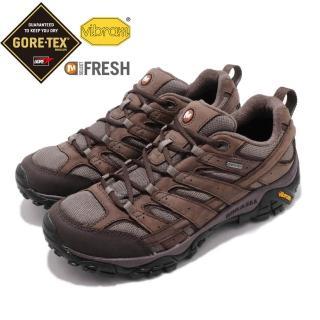 【MERRELL】戶外鞋 Moab 2 Smooth GTX 男鞋 登山越野 低筒 運動 防水 透氣耐磨 棕 灰(ML46561)  MERRELL