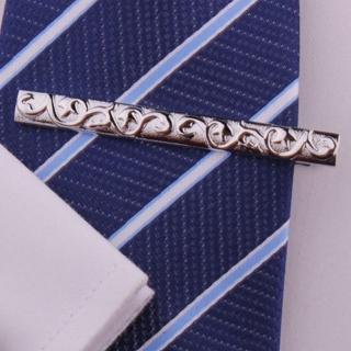 【拉福】領帶夾磐龍銀領帶夾領夾(6cm)  拉福