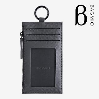 【BAGMIO】authentic 牛皮鑰匙零錢包-深灰強力推薦  BAGMIO