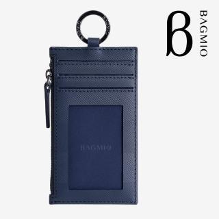 【BAGMIO】authentic 系列牛皮3卡鑰匙零錢包-午夜藍好評推薦  BAGMIO