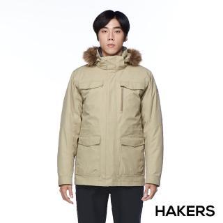 【HAKERS】男款 City Smart三合一防水羽絨外套(灰褐色)  HAKERS