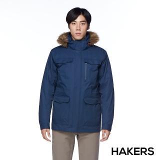 【HAKERS】男款 City Smart三合一防水羽絨外套(深藍)真心推薦  HAKERS