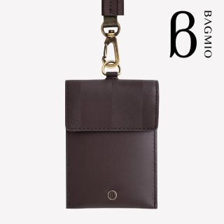 【BAGMIO】authentic 系列牛皮名片證件套-可可棕 附織帶推薦折扣  BAGMIO