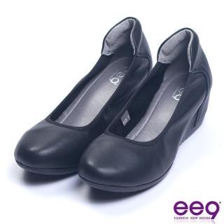 【ee9】經典素面百搭柔軟內增高娃娃鞋 黑色(娃娃鞋) 推薦  ee9