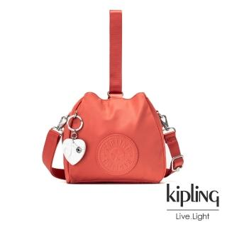 【KIPLING】亞洲限定款覆盆子紅素面手提側背包-IMMIN  KIPLING
