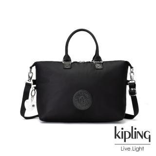 【KIPLING】亞洲限定款隕星黑素面時尚大容量手提肩背包-TIRAM  KIPLING