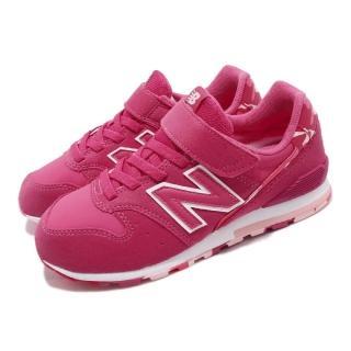 【NEW BALANCE】慢跑鞋 KV996WPYW 寬楦 運動 童鞋 紐巴倫 魔鬼氈 輕量 舒適 避震 中童 粉 白(KV996WPYW)  NEW BALANCE