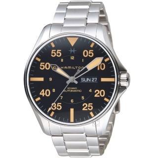 【HAMILTON 漢米爾頓】卡其航空系列Khaki Pilot機械腕錶(H64725131)好評推薦  HAMILTON 漢米爾頓
