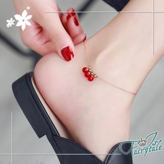 【伊飾童話】紅莓氣泡*玫瑰金鈦鋼手腳鍊好評推薦  伊飾童話
