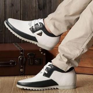 【米蘭精品】內增高鞋休閒鞋(時尚流行隱形增高男鞋子2色56f31)  米蘭精品