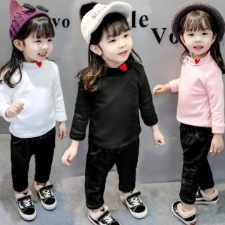 【小衣衫童裝】中小童高翻領紅色愛心長袖內搭衣(1071130) 推薦  小衣衫童裝