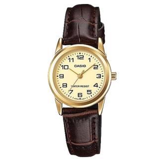 【CASIO 卡西歐】金澄舞動鋼帶女錶-淺黃x31mm(LTP-V001GL-9B)強力推薦  CASIO 卡西歐