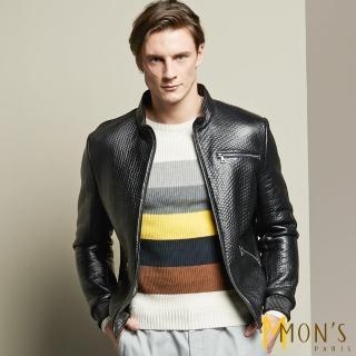 【MON'S】狂野個性男羊皮衣/外套(100%羊皮)  MON'S