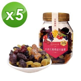 【長榮生醫】L-阿拉伯糖天然花青素綜合莓果嚐鮮組(綜合莓果*5罐)  長榮生醫