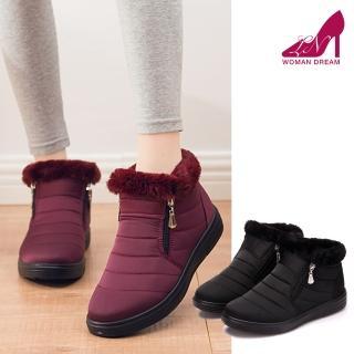 【LN】現+預 厚絨防潑水保暖短雪靴(平底鞋 內加絨可挑大一碼)強力推薦  LN
