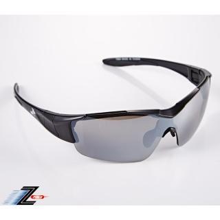 【Z-POLS】新一代頂級消光黑全新設計 一片式電鍍鏡面運動太陽眼鏡(抗UV400防爆帥氣電鍍鏡面運動眼鏡)  Z-POLS